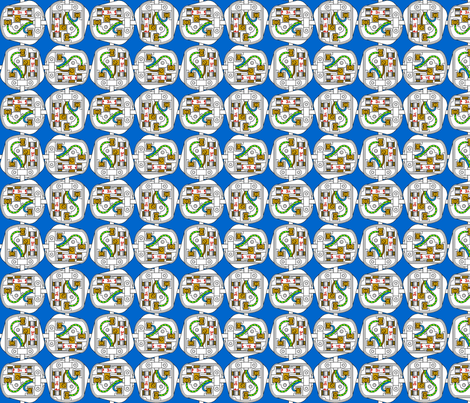 plugging away 4 fabric by sef on Spoonflower - custom fabric