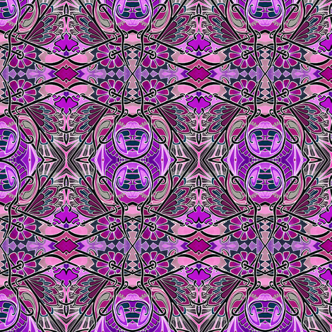 Kissy Flower Hexagon Patches fabric by edsel2084 on Spoonflower - custom fabric