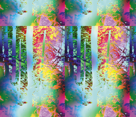 Rainbow Forest, L fabric by animotaxis on Spoonflower - custom fabric