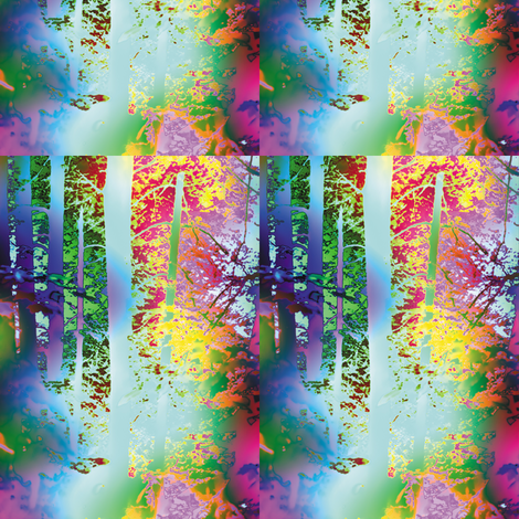 Rainbow Forest, S fabric by animotaxis on Spoonflower - custom fabric