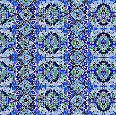 Mode Indigo North and South fabric by edsel2084 on Spoonflower - custom fabric