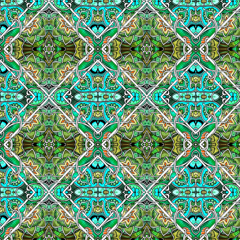 Big Diamond, Little Diamond (green version) fabric by edsel2084 on Spoonflower - custom fabric