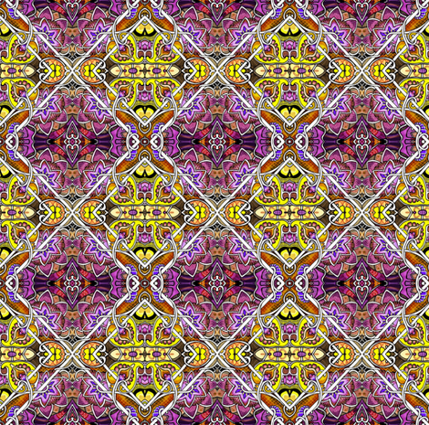 Big Diamond, Little Diamond (purple/yellow version) fabric by edsel2084 on Spoonflower - custom fabric