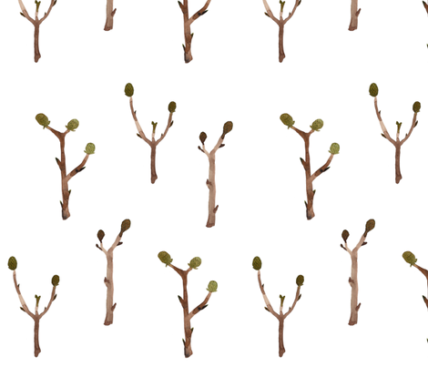 Twigs - Woodland Collection fabric by gollybard on Spoonflower - custom fabric