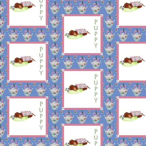 Baby Puppy fabric by karenharveycox on Spoonflower - custom fabric
