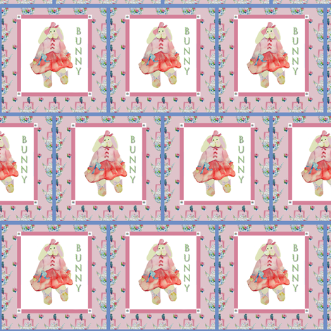 Baby Bunny fabric by karenharveycox on Spoonflower - custom fabric