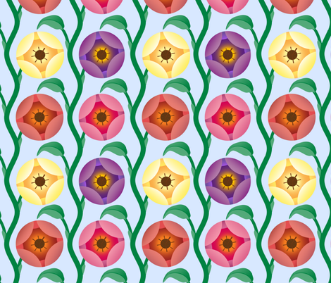 Vineflowers 2 fabric by swellanor on Spoonflower - custom fabric