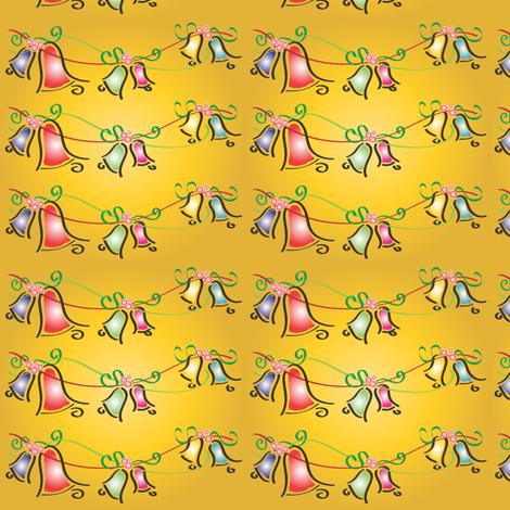 Golden Bells fabric by teelee on Spoonflower - custom fabric