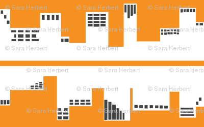 Up Town vs. Down Town in Orange and Grey