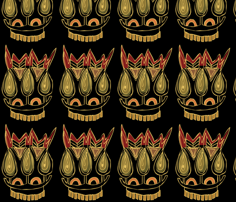 Tribal Mask fabric by meredithjean on Spoonflower - custom fabric