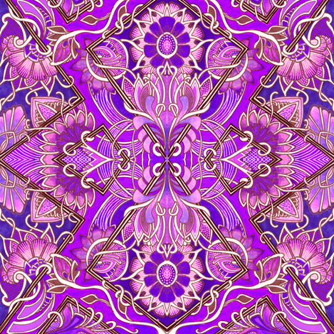 Something Asian This Way Comes (purple) fabric by edsel2084 on Spoonflower - custom fabric