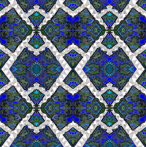 The Midnight Puzzler fabric by edsel2084 on Spoonflower - custom fabric