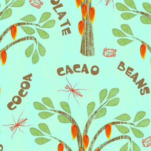Cacao - with midges and ka-kaw - bluer