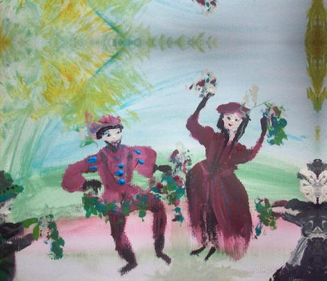 Christmas Tudor dance fabric by myartself on Spoonflower - custom fabric