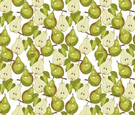 Bartlett Pears fabric by marlene_pixley on Spoonflower - custom fabric