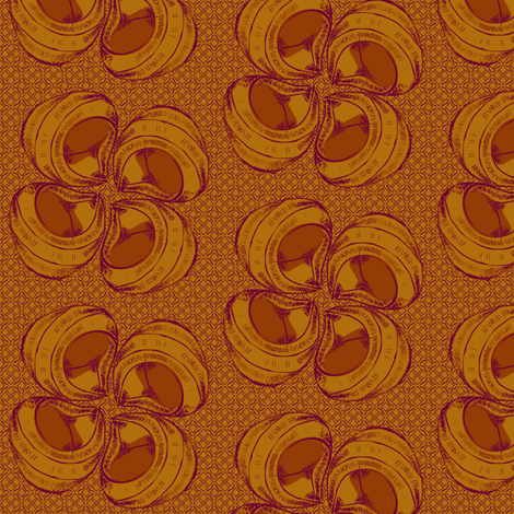 sean's shellflower spice fabric by glimmericks on Spoonflower - custom fabric