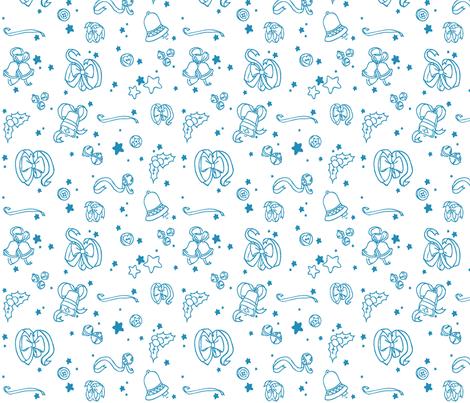 Winter Ribbons fabric by threeyellowplums on Spoonflower - custom fabric