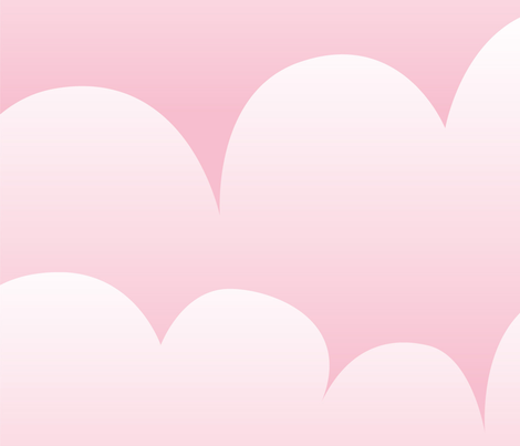pink clouds fabric by myracle on Spoonflower - custom fabric