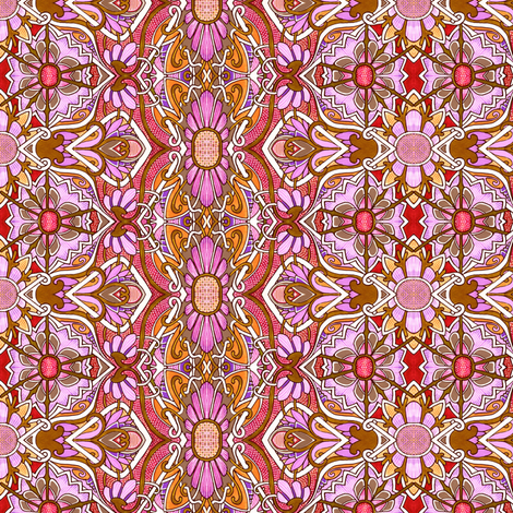 Hot Pink Victorian Floral Tangle fabric by edsel2084 on Spoonflower - custom fabric