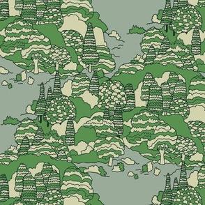 Illustrated Evergreens