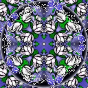 Zen Lotus Blossom with Vines