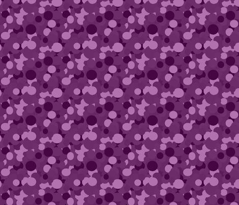 Purple Circles fabric by rainbowrachel on Spoonflower - custom fabric