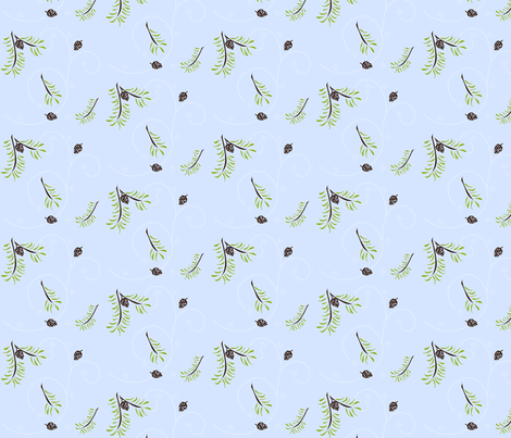 Pine Cones fabric by ninjaauntsdesigns on Spoonflower - custom fabric