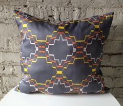 Grey African Tribal Textile