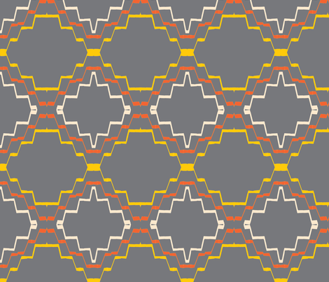 Grey African Tribal Textile fabric by ingrid_ on Spoonflower - custom fabric