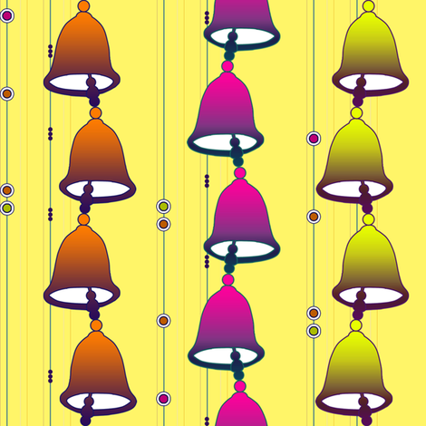 Ceramic Bell Windchime fabric by avalovesart on Spoonflower - custom fabric