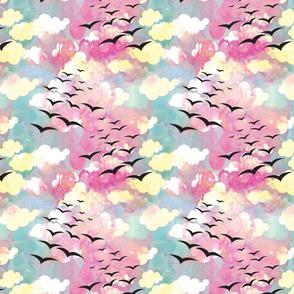 Birds fly Over the Rainbow
