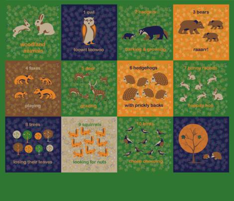 Woodland Animals fabric by somethingluscious on Spoonflower - custom fabric