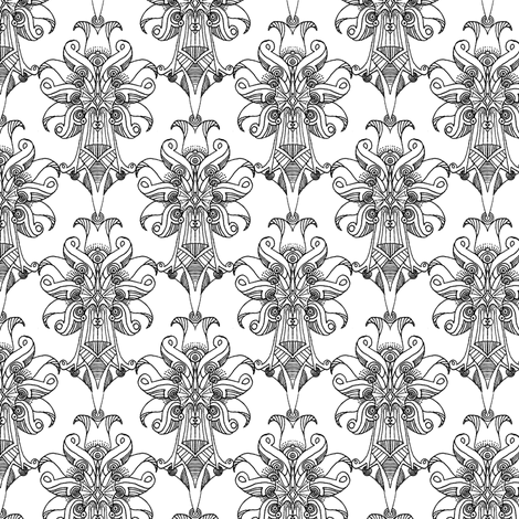 Atomic Bloom Dense white fabric by atomic_bloom on Spoonflower - custom fabric