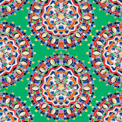 Massai Mosaic Medallion fabric by angelray on Spoonflower - custom fabric