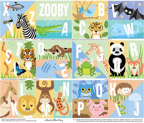 Zooby_Book-Wendy_Bentley fabric by wendybentley on Spoonflower - custom fabric