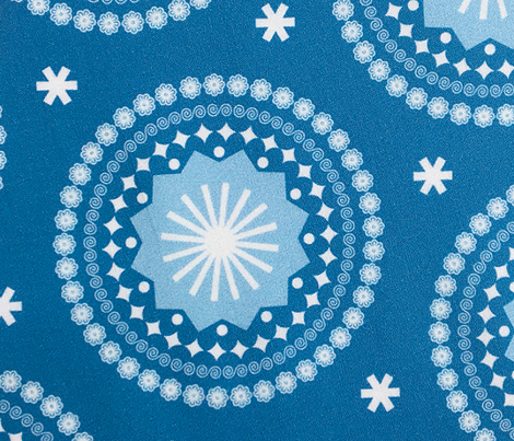 Bandana* (Blue Liz) || scarf handkerchief stars starburst circles flowers fireworks geometric outer space sky galaxy mandala