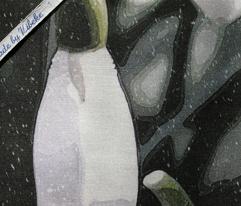 Snowdrop tea towel - winter