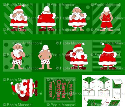Santa Clothes Baby Cloth Book