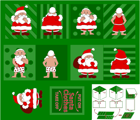 Santa Clothes Baby Cloth Book fabric by pabi on Spoonflower - custom fabric