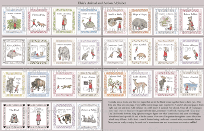"The Alphabetical Animal Antics of Elsie ( 56"" and wider bolts needed for whole book)"