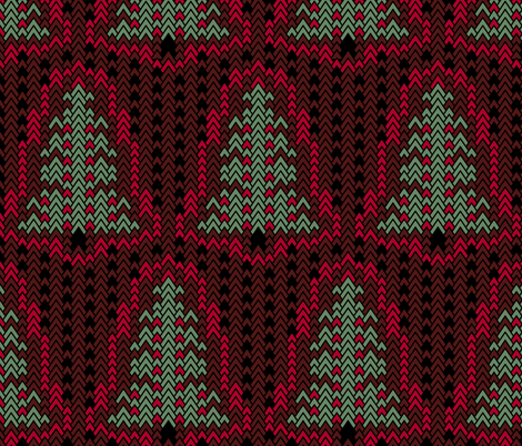 Christmas Sweater Trees 3 fabric by pond_ripple on Spoonflower - custom fabric