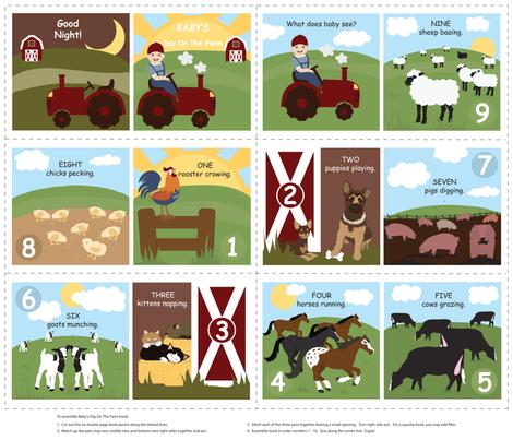 Baby's Day On The Farm fabric by jenniferfranklin on Spoonflower - custom fabric