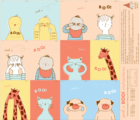 peek a boo! book fabric by niseemade on Spoonflower - custom fabric