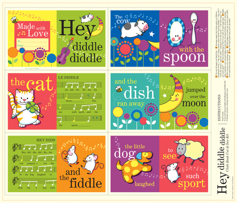 Hey Diddle Diddle fabric by jennartdesigns on Spoonflower - custom fabric