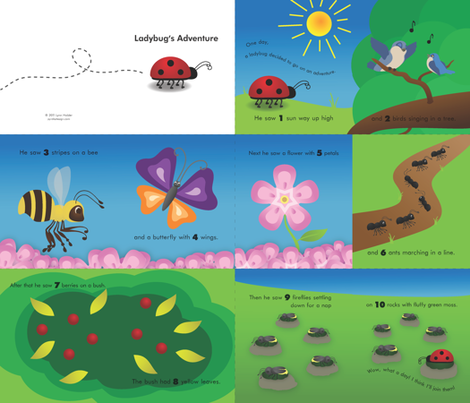 Ladybug's Adventure fabric by pyralisdesign on Spoonflower - custom fabric
