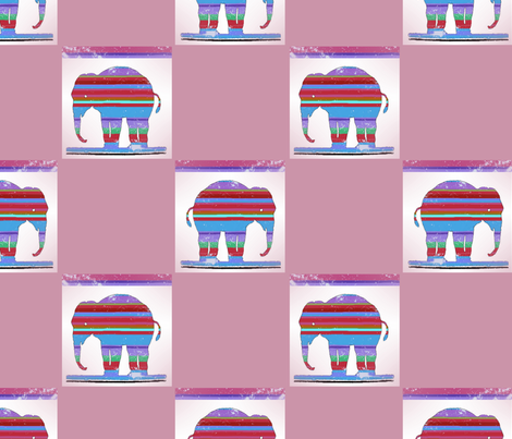 striped_elefant_pink fabric by vinkeli on Spoonflower - custom fabric