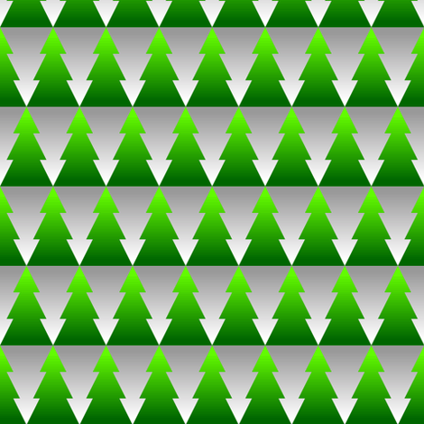 gradient xmas firs + snow fabric by sef on Spoonflower - custom fabric
