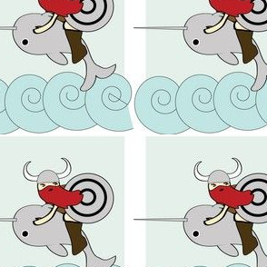 Viking Riding a Narwhal