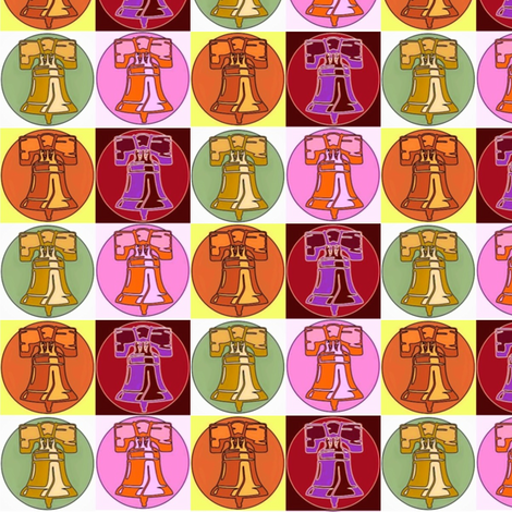 Liberty Bells fabric by thatrossiart on Spoonflower - custom fabric