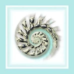Mercury Glass Nautilus six to a fat quarter on sateen